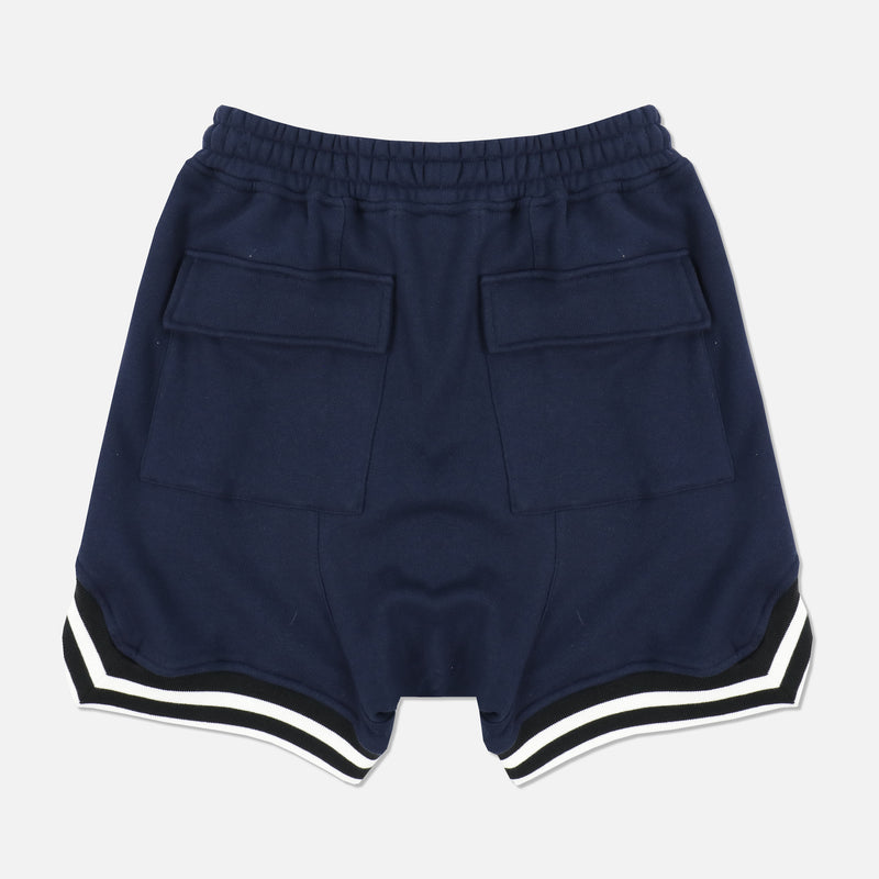 Wolves Club French Terry Court Shorts in Navy