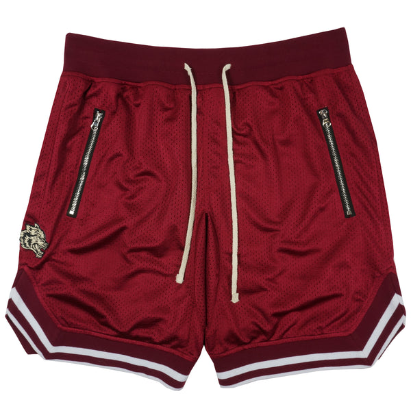 Wolves Club Court Shorts in Maroon