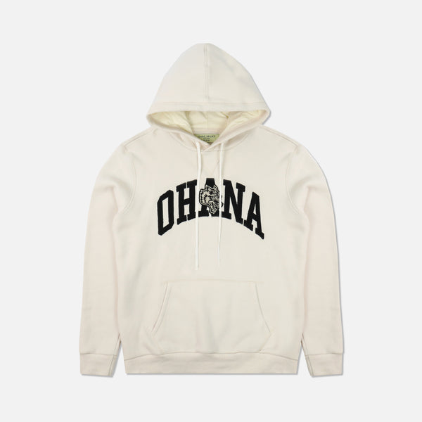 Ohana Applique Premium Hoodie in Cream