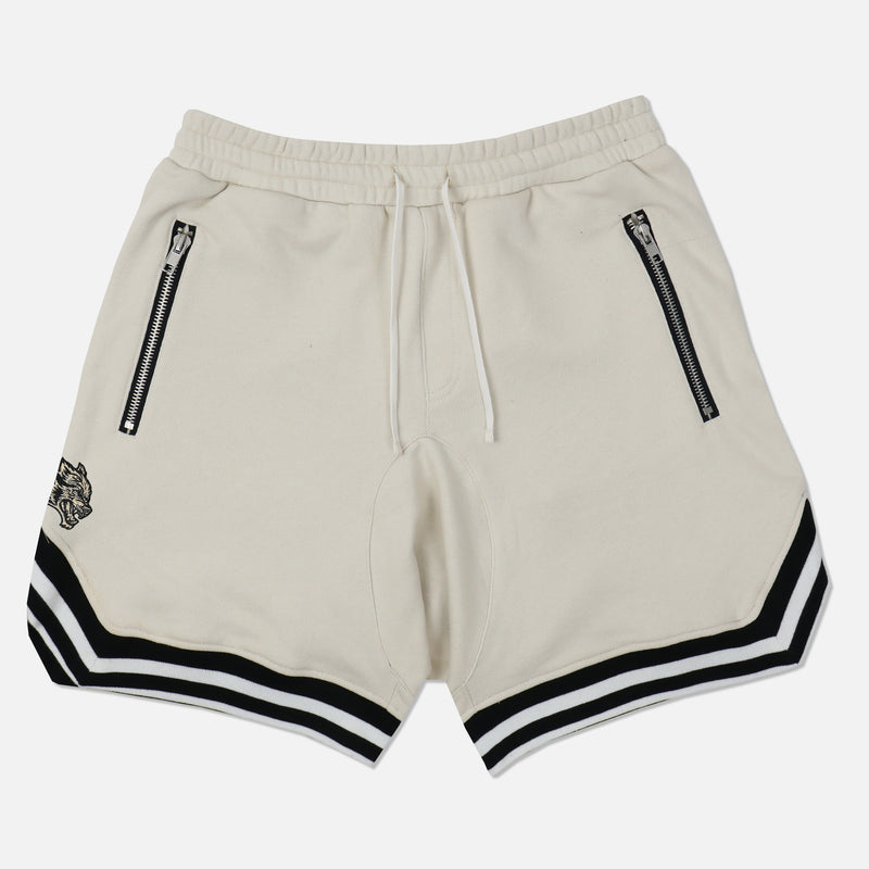 Wolves Club French Terry Court Shorts in Cream