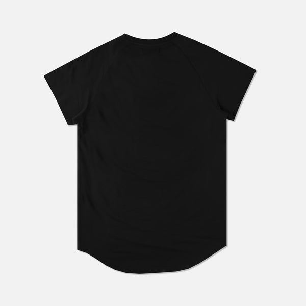 Family Cap Sleeve (Drop) Tee in Black