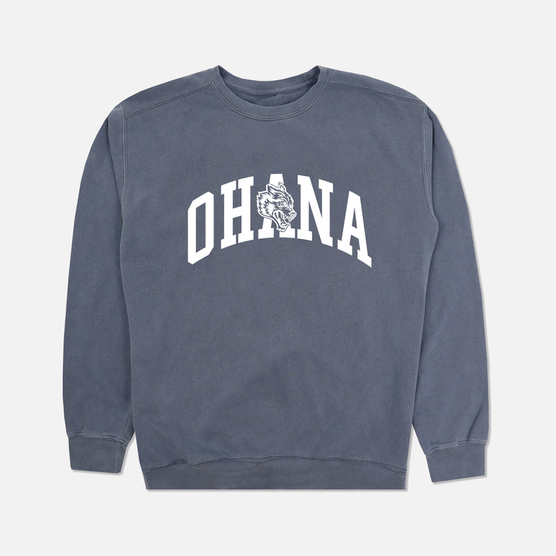 Family Crewneck in Denim Blue