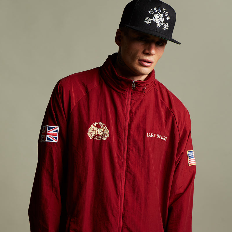 Fasted Windbreaker Jacket In Cardinal