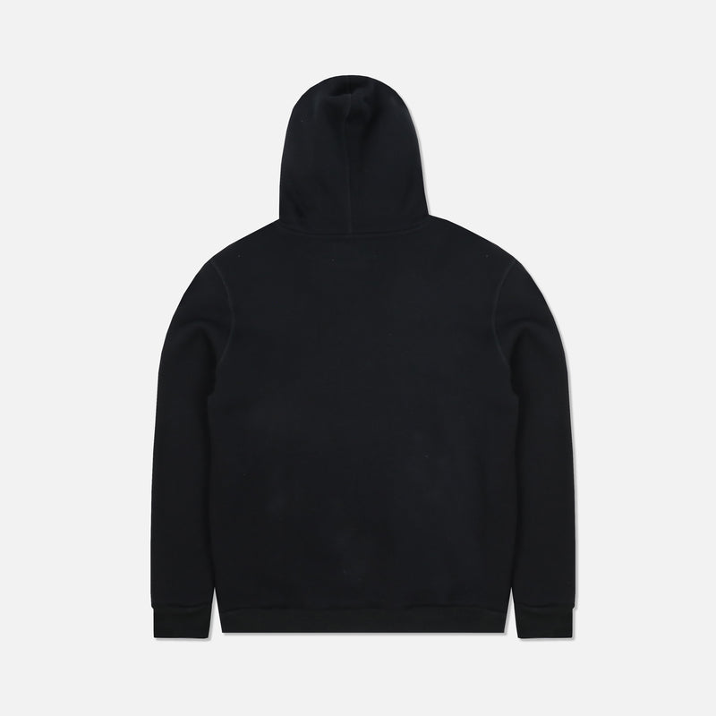 Flags Up Embroidered Premium Hoodie in Black