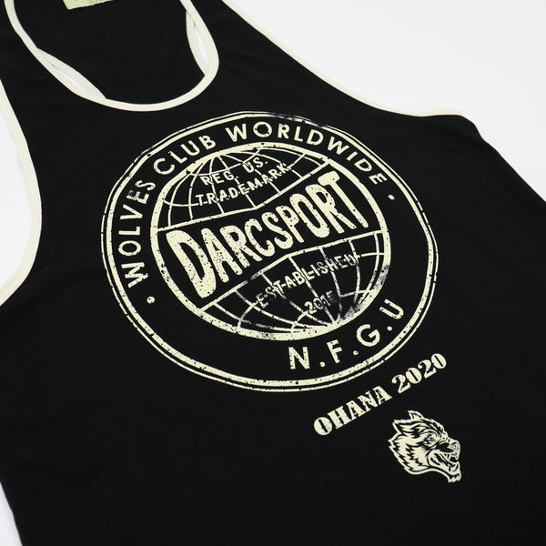 Wolves Globe Mecca Tank in Black