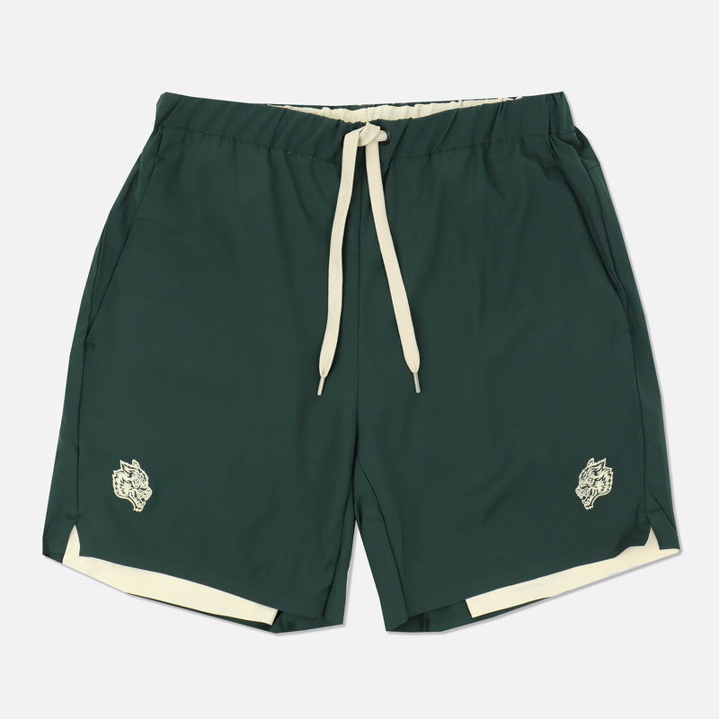 Wolves Compression Shorts in Green