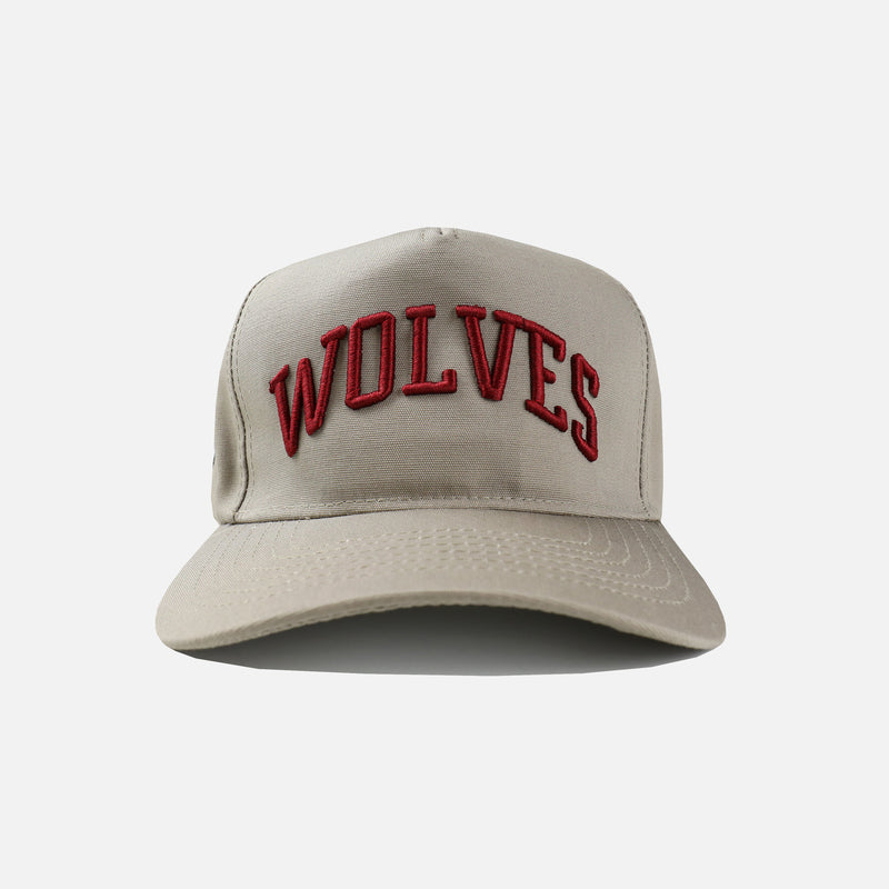 Waves Varsity 5 Panel Hat in Khaki