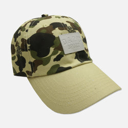 Wave Patch Strapback Hat in Camo