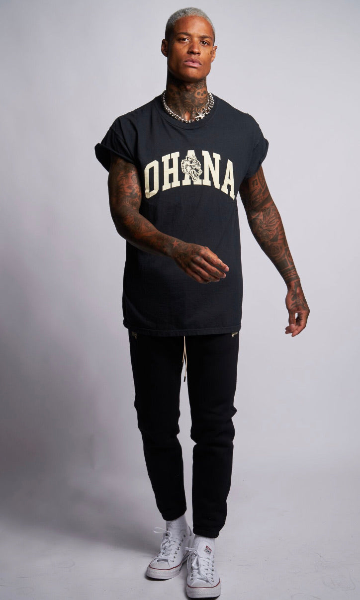 Family Cap Sleeve Tee in Black