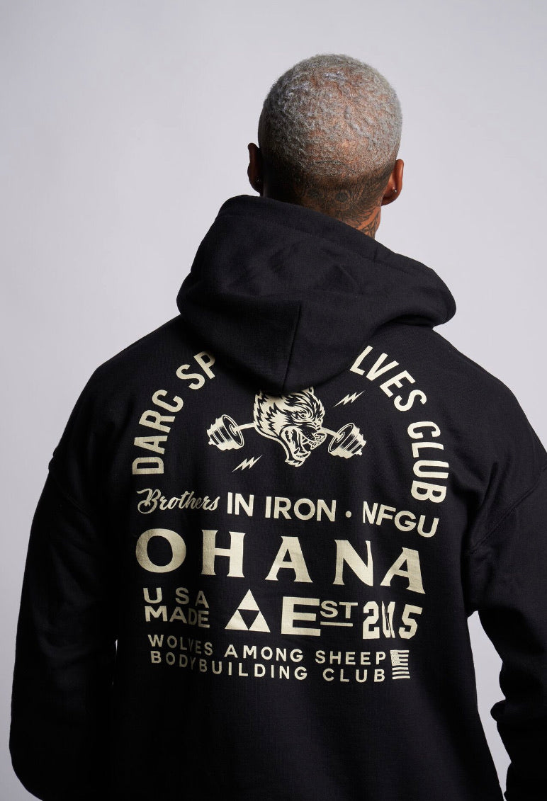 Ohana In Iron Classic Hoodie in Black