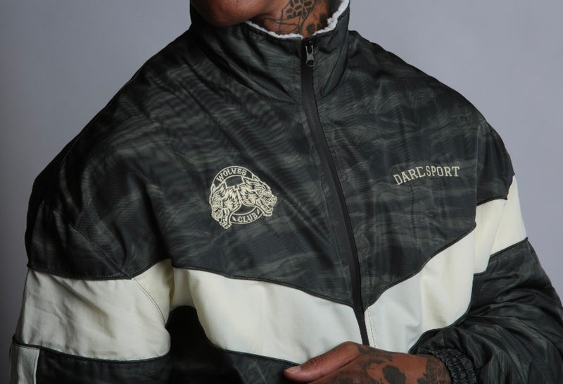 Club Sherpa Bomber Jacket in Wolf Camo