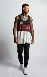 Venice Tank in Athletic/Maroon