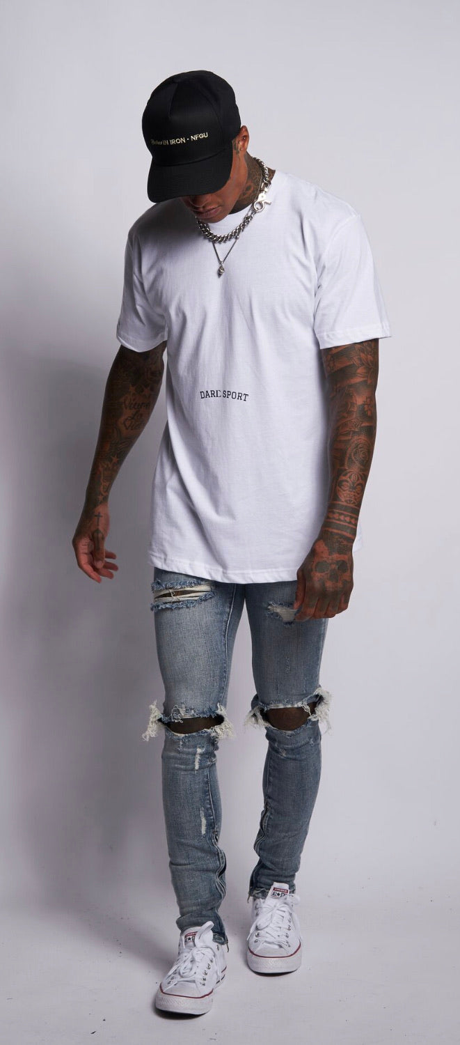 Bodybuilding Saved My Life V2 Classic Tee in White