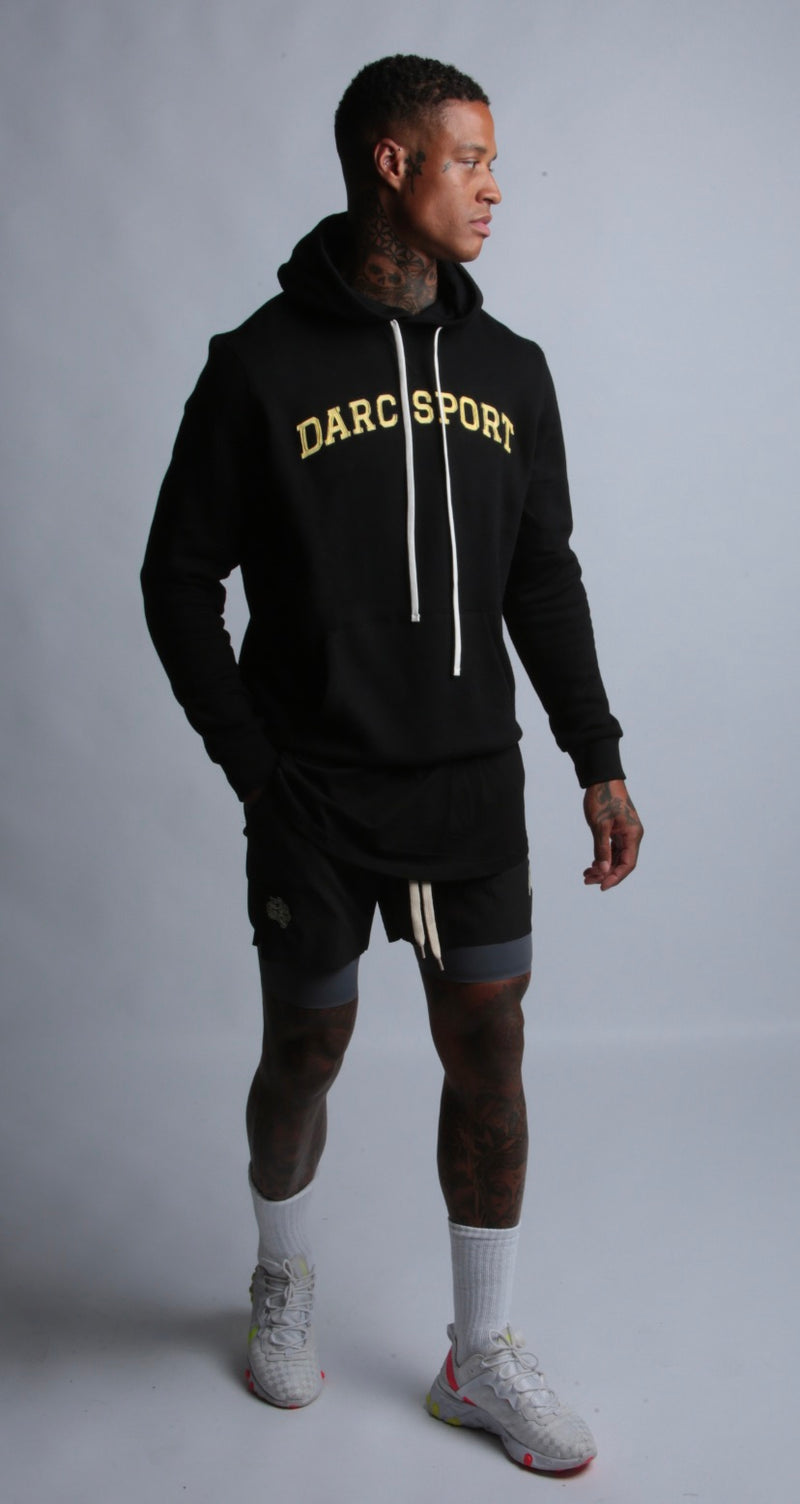 Arch Applique Premium Hoodie in Black