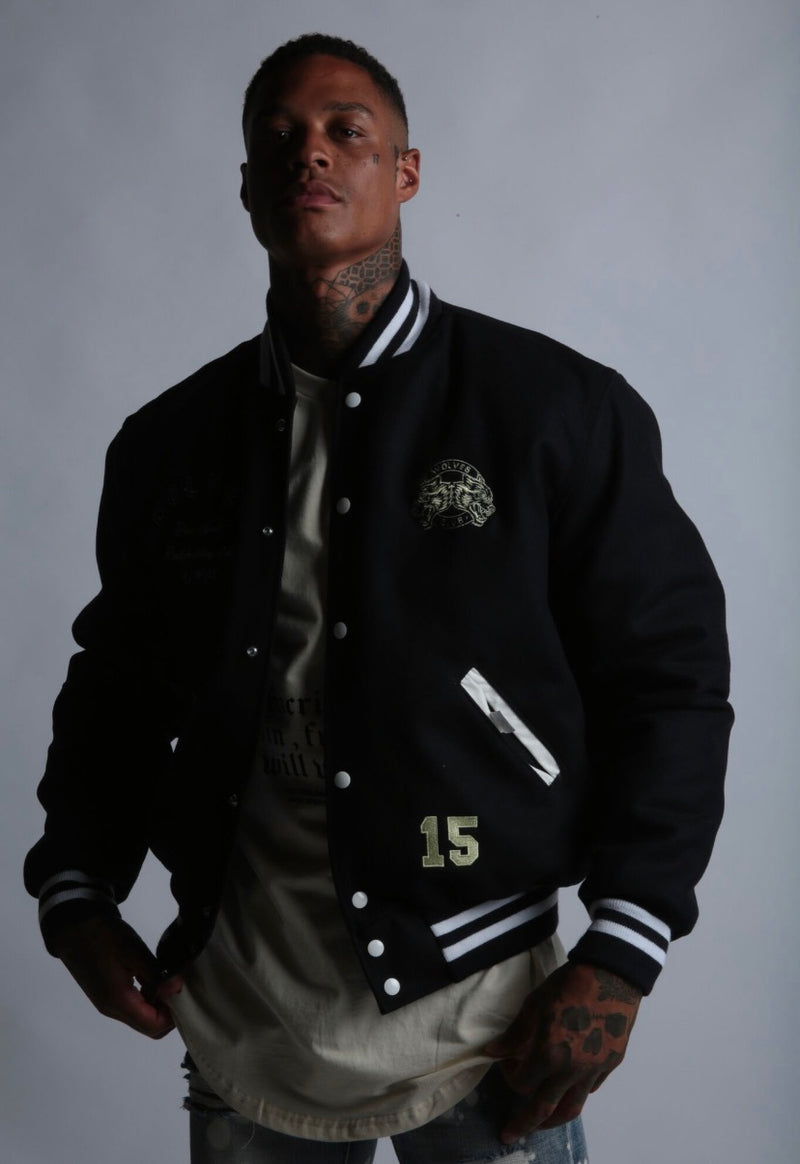 Will Within Letterman Jacket in Navy