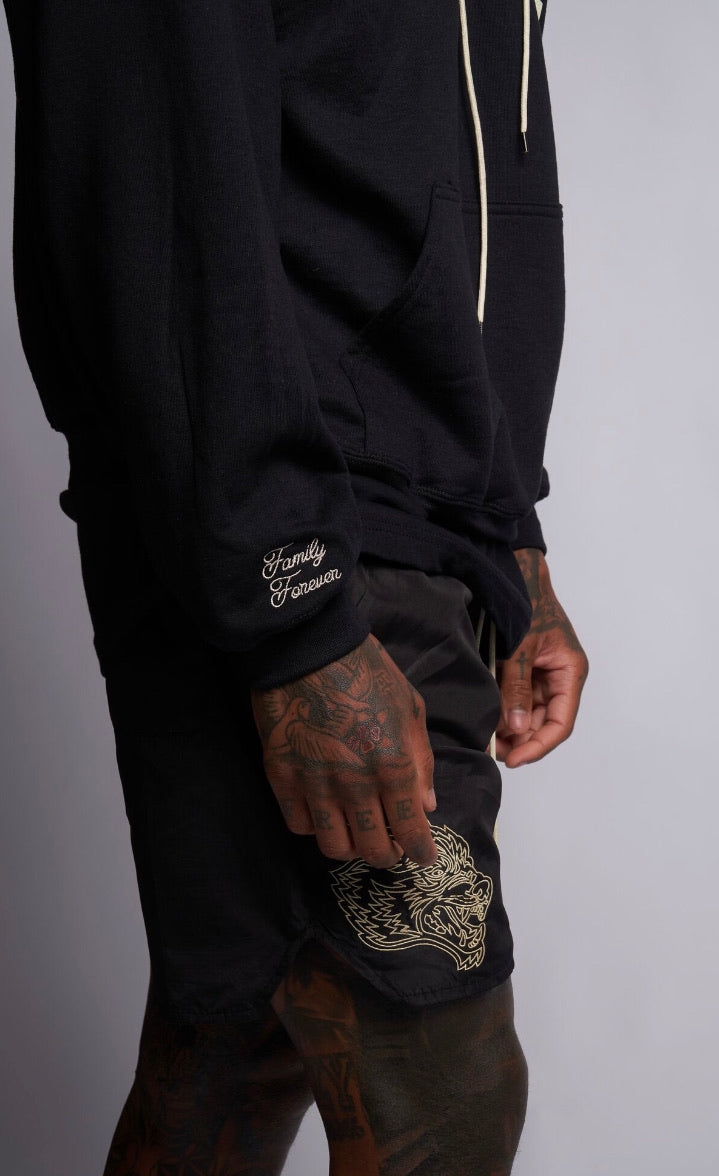 Fasted Track Shorts in Black/Tan