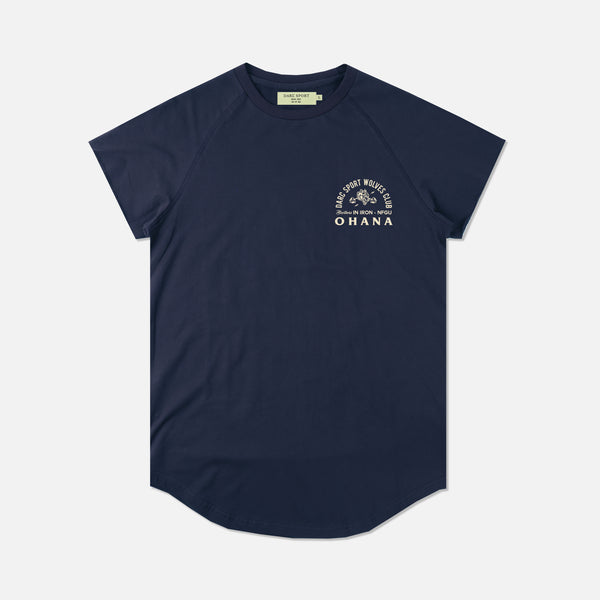 Ohana In Iron Cap Sleeve (Drop) Tee in Navy