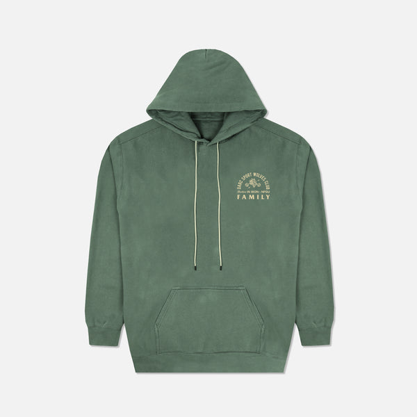 Ohana In Iron Pigment Wash Hoodie in Spruce
