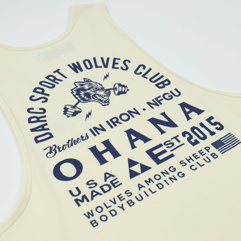 Ohana In Iron (Drop) Tank in Cream