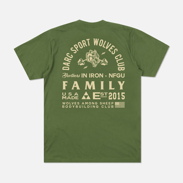Ohana In Iron Classic Tee in Olive