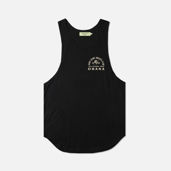 Ohana In Iron (Drop) Tank in Black