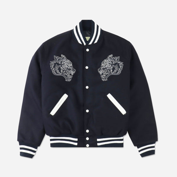 Ohana Letterman Jacket in Navy