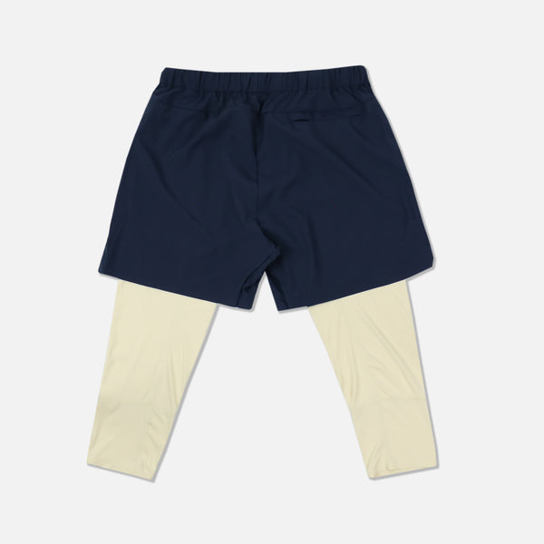 Wolves 3/4 Length Compression Shorts in Navy/Tan