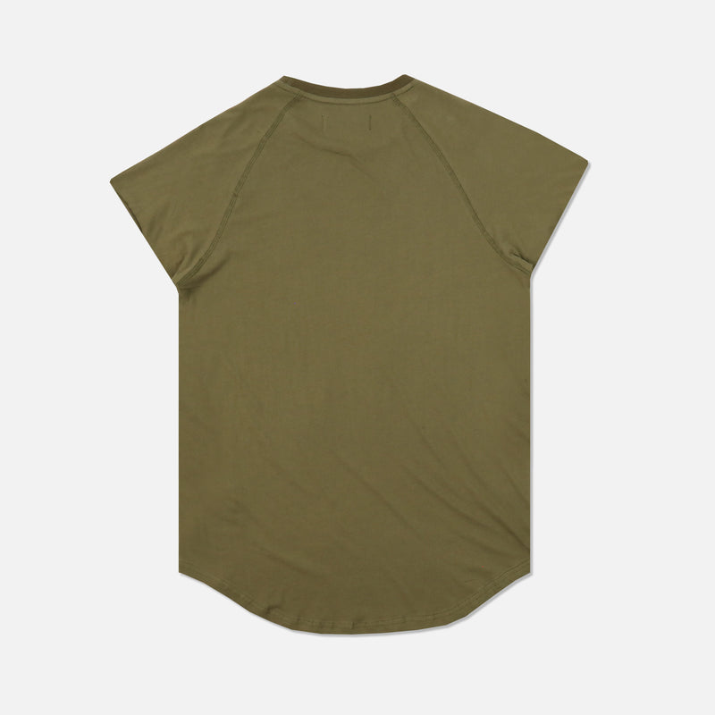 Family Cap Sleeve (Drop) Tee in Olive