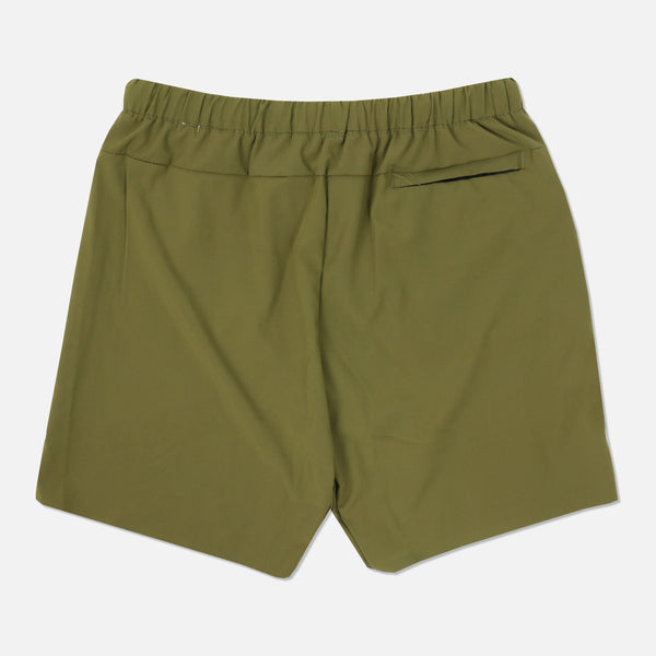 Wolves Compression Shorts in Olive/Cream