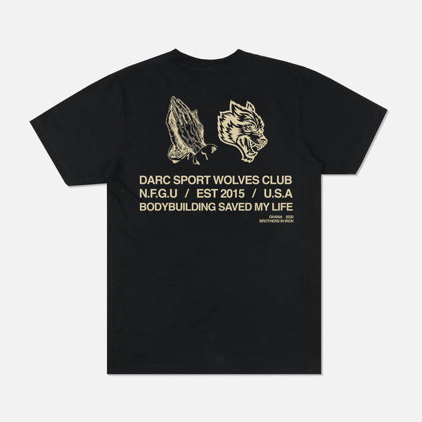 Pray For Us Classic Tee in Black