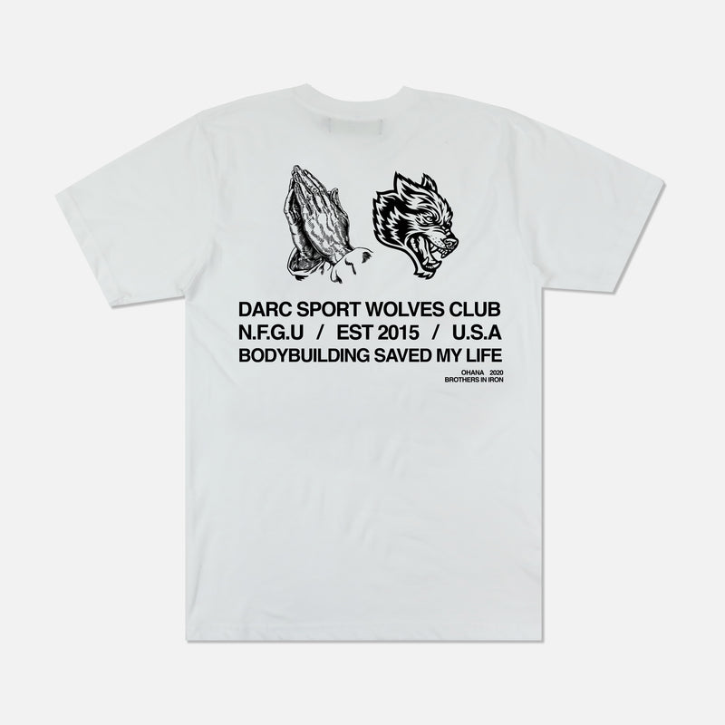 Pray For Us Classic Tee in White
