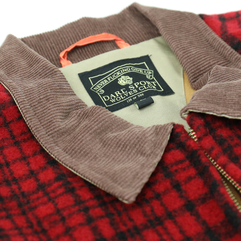Quilted Flannel Logan Jacket in Red/Black