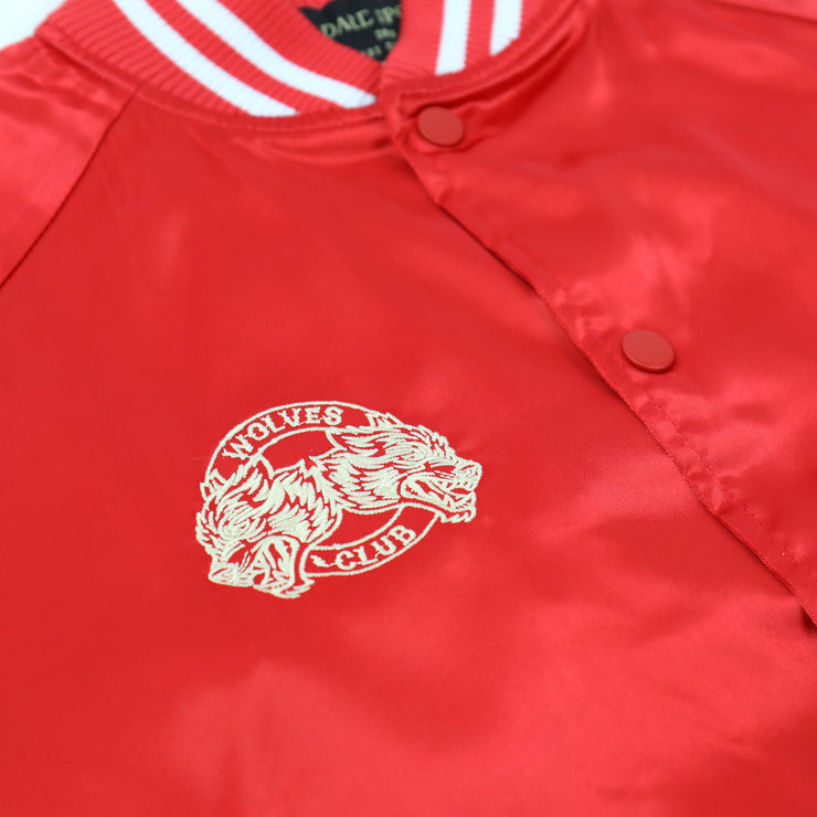 Roll Call Satin Jacket In Red