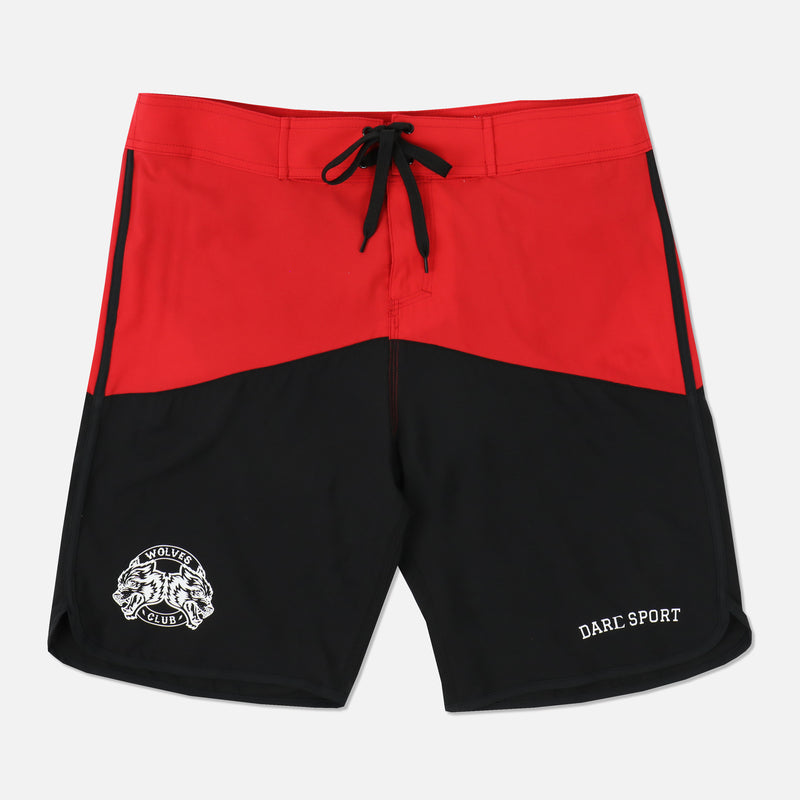 Ohana Stage Shorts in Red/Black