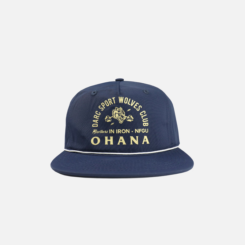 Ohana In Iron Rope Hat in Navy