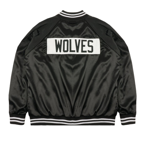 Roll Call Satin Jacket In Black