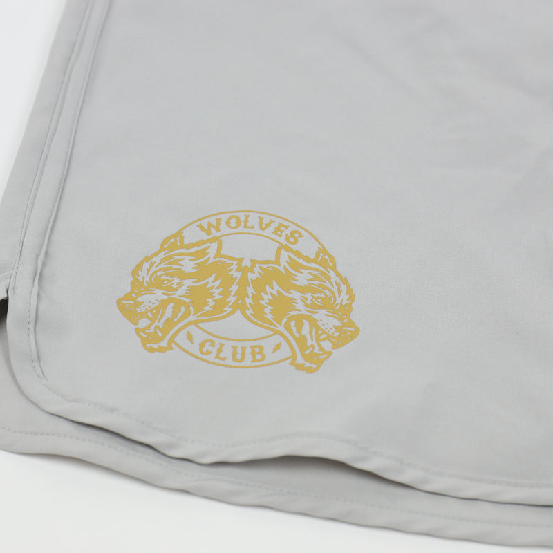 Wolf From The Burgh Stage Shorts in Gold/Grey