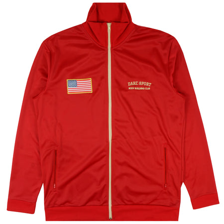 Stadium Track Jacket In Cardinal