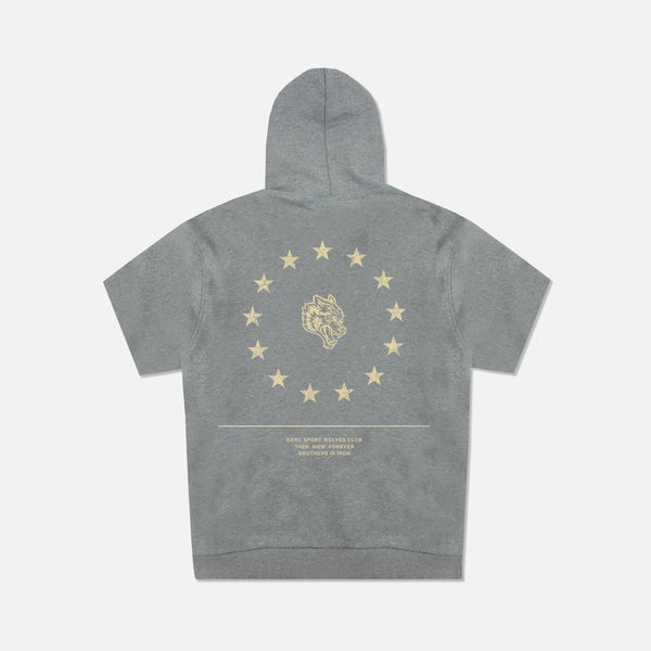 Wolf Star Cap Sleeve Hoodie in Athletic