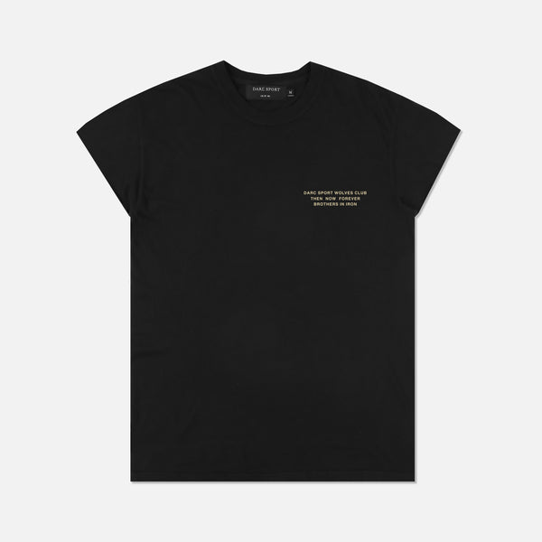 Wolf Star Cap Sleeve Tee in Black