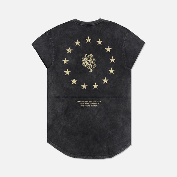 Wolf Star Cap Sleeve (Drop) Tee in Vintage Black
