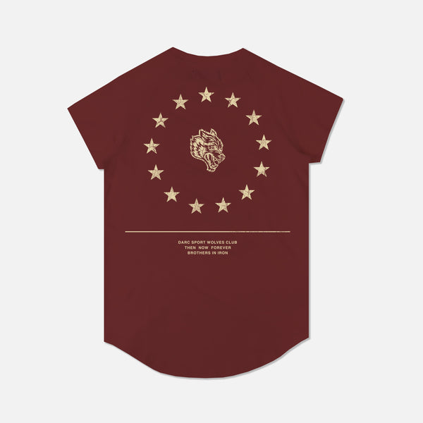 Wolf Star Cap Sleeve (Drop) Tee in Vintage Red