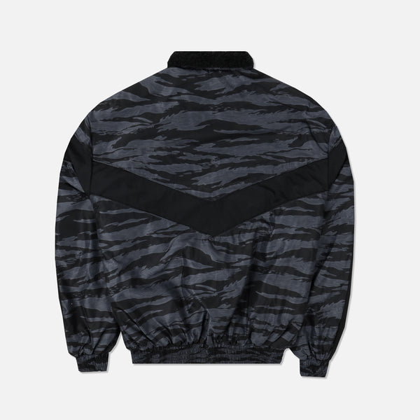 Club Sherpa Bomber Jacket in Wolf Camo Black