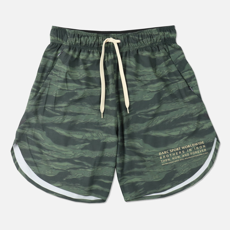 USA Flex Shorts (V2) in Wolf Camo Green