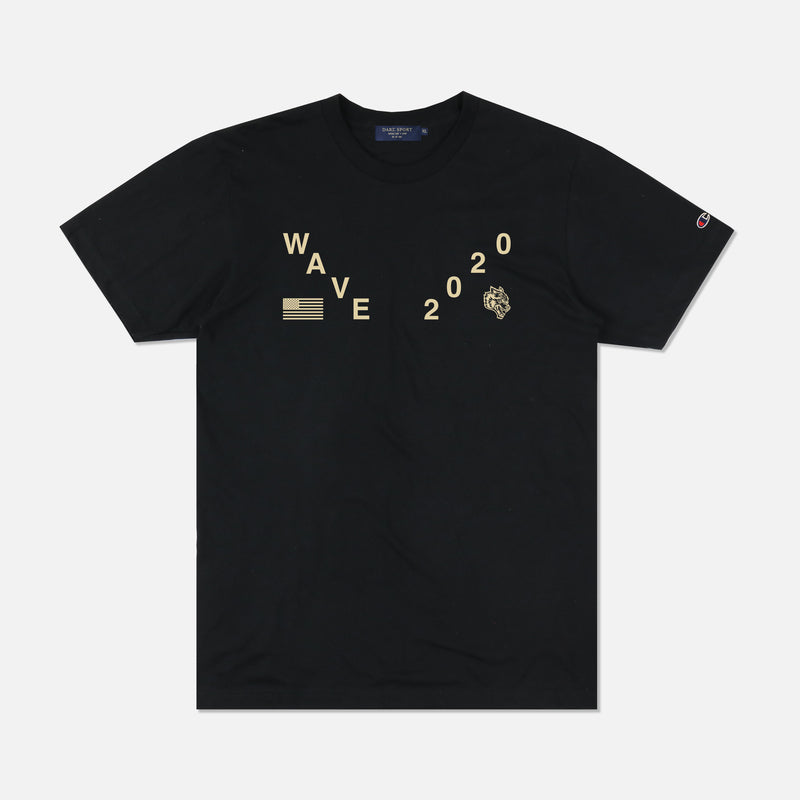 Waves Varsity Champion Tee in Black