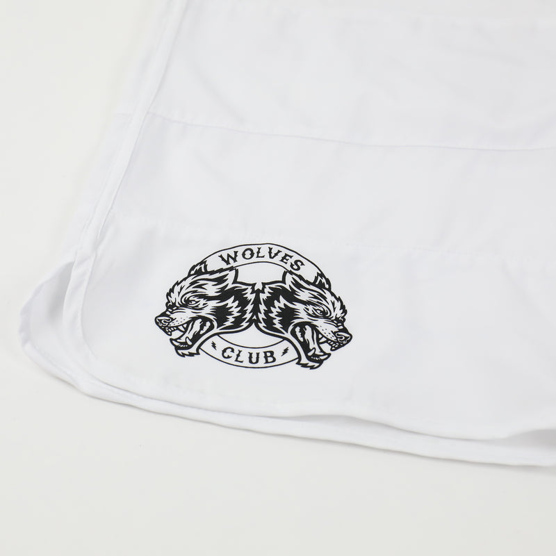 Vicious Ones Stage Shorts in White/Black Stripe