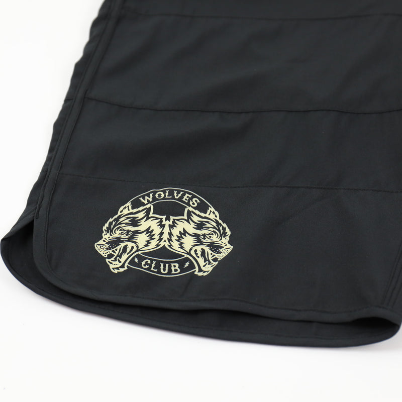 Vicious Ones Stage Shorts in Black/White Stripe