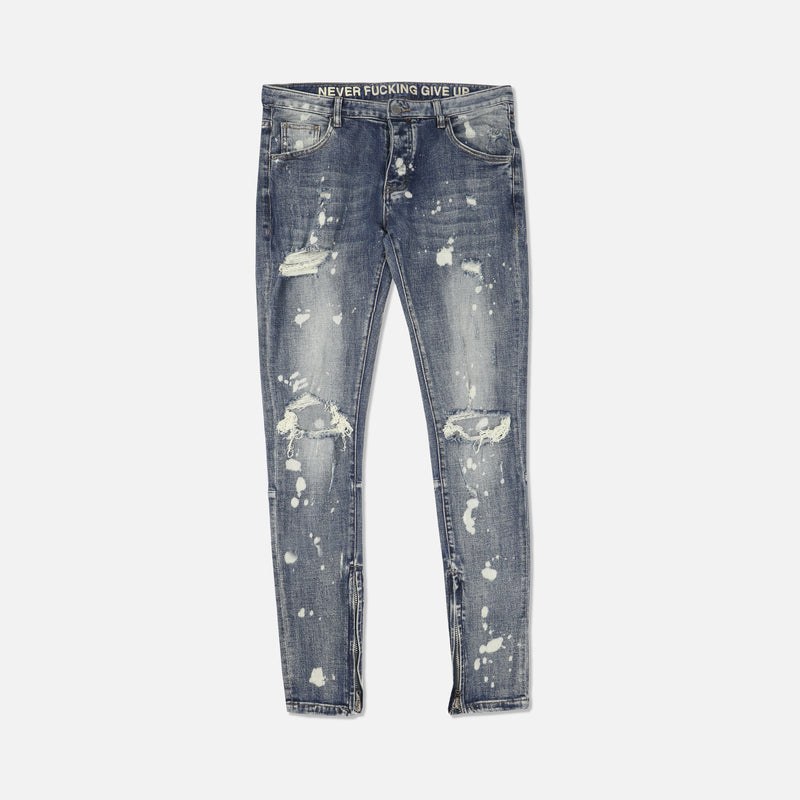 Vicious Denim Jeans in Bleach Thrash