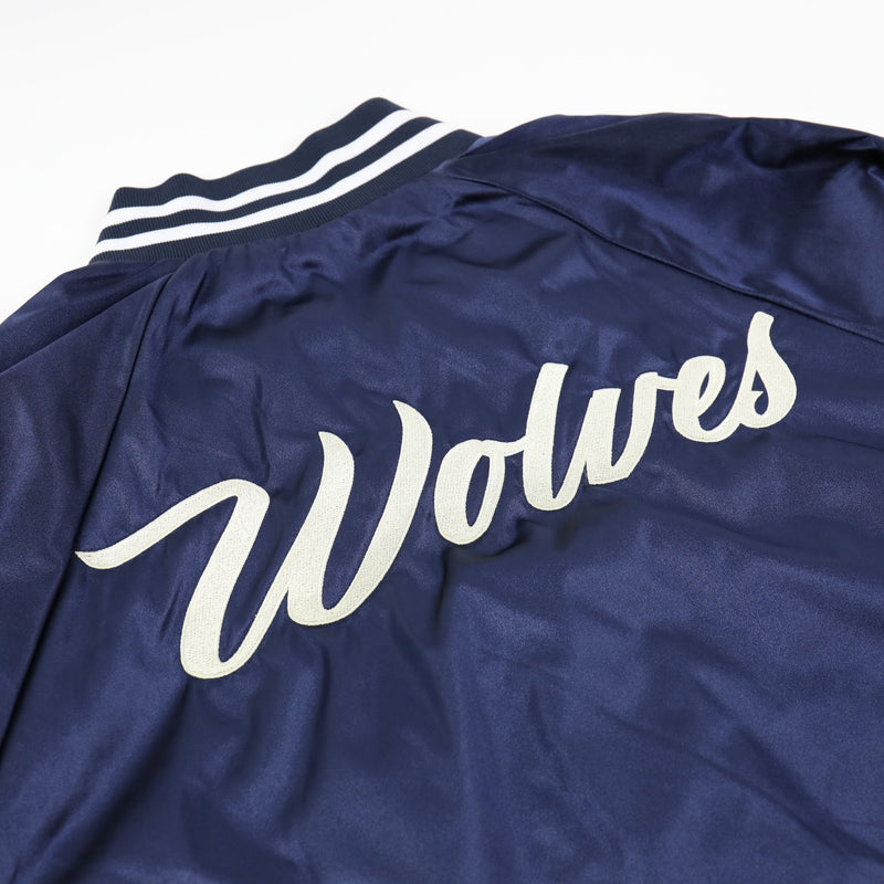 Waves Varsity Jacket in Navy