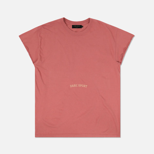 Till The Wheels Fall Off Cap Sleeve Tee in Pigment Mauve